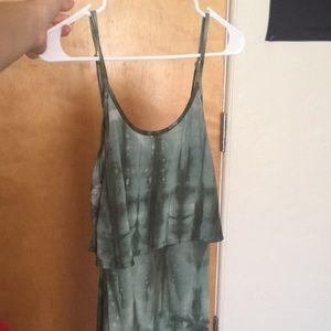 Green tie dye dress